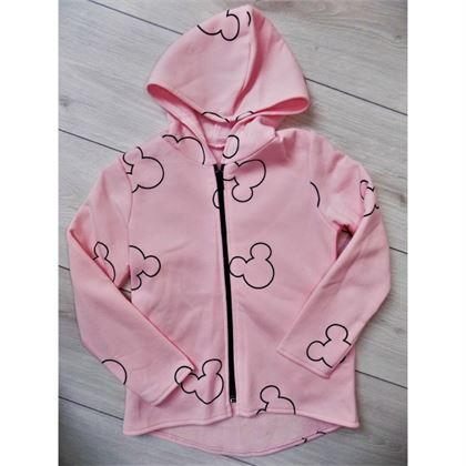 Różowa bluza z myszką miki