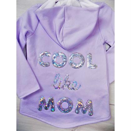 "Lawendowa bluza ""Cool like mom"" 1"